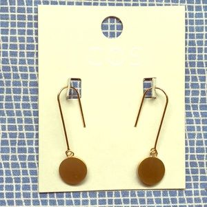 NWT gold dangle Cos earrings